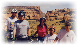 guided mountain biking for families