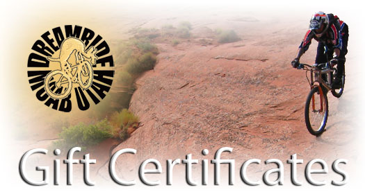 Gift Certificates for mountain bikers
