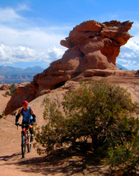Solo with guide/photog on the Moab Slickrock Trail