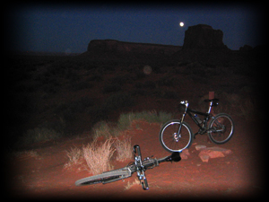 Monument Valley full moon bike tours