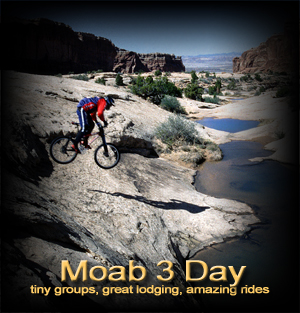 Moab 3 day mountain bike vacation