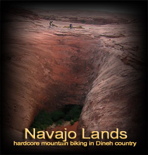 Navajo Reservation road and mountain biking