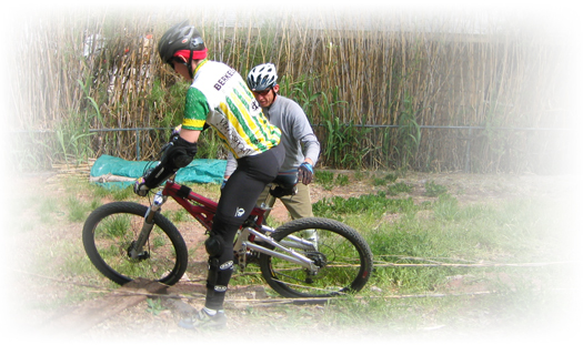 mountain bike clinic begin on company grounds
